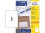 z3418p - etykiety samoprzylepne uniwersalne białe Avery Zweckform 3418 papierowe 200x297 mm, ark. A4 1x1, 100 ark./op.