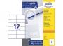 z3424p - etykiety samoprzylepne uniwersalne białe Avery Zweckform 3424 papierowe 105x48 mm, ark. A4 2x6, 100 ark./op.