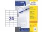z3474o - etykiety samoprzylepne uniwersalne białe Avery Zweckform 3474 papierowe 70x37 mm, ark. A4 3x8, 200 ark./op.Przy zakupie  3 opakowań etykiet otrzymasz czekoladę Lindt w prezencie
