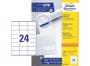 z3475o - etykiety samoprzylepne uniwersalne białe Avery Zweckform 3475 papierowe 70x36 mm, ark. A4 3x8, 200+20 ark./op.Przy zakupie  3 opakowań etykiet otrzymasz czekoladę Lindt w prezencie