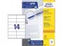 z3477p - etykiety samoprzylepne uniwersalne białe Avery Zweckform 3477 papierowe 105x41 mm, ark. A4 2x7, 100 ark./op.