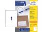 z3478o - etykiety samoprzylepne uniwersalne białe Avery Zweckform 3478 papierowe 210x297 mm, ark. A4 1x1, 200+20 ark./op.