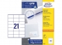z3481p - etykiety samoprzylepne uniwersalne białe Avery Zweckform 3481 papierowe 70x41 mm, ark. A4 3x7, 100 ark./op.