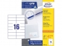 z3484o - etykiety samoprzylepne uniwersalne białe Avery Zweckform 3484 papierowe 105x37 mm, ark. A4 2x8, 200+20 ark./op.Przy zakupie  3 opakowań etykiet otrzymasz czekoladę Lindt w prezencie