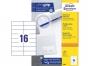z3484p - etykiety samoprzylepne uniwersalne białe Avery Zweckform 3484 papierowe 105x37 mm, ark. A4 2x8, 100 ark./op.