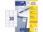 z3489p - etykiety samoprzylepne uniwersalne białe Avery Zweckform 3489 papierowe 70x29,7 mm, ark. A4 3x10, 100 ark./op.