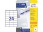 z3490 - etykiety samoprzylepne uniwersalne białe Avery Zweckform 3490 papierowe 70x36 mm, ark. A4 3x8, 25 + 5 ark./op