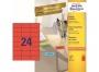 z34___ - etykiety samoprzylepne uniwersalne Avery Zweckform 70x37 mm, papierowe, ark. A4 3x8, 100 ark./op.Przy zakupie  3 opakowań etykiet otrzymasz czekoladę Lindt w prezencie