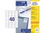 z3651o - etykiety samoprzylepne uniwersalne białe Avery Zweckform 3651 papierowe 52,5x29,7 mm, ark. A4 4x10, 200+20 ark./op.Przy zakupie  3 opakowań etykiet otrzymasz czekoladę Lindt w prezencie