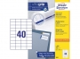 z3651p - etykiety samoprzylepne uniwersalne białe Avery Zweckform 3651 papierowe 52,5x29,7 mm, ark. A4 4x10, 100 ark./op.