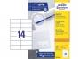z3653o - etykiety samoprzylepne uniwersalne białe Avery Zweckform 3653 papierowe 105x42,3 mm, ark. A4 2x7, 200+20 ark./op.Przy zakupie  3 opakowań etykiet otrzymasz czekoladę Lindt w prezencie