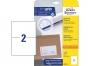 z3655 - etykiety samoprzylepne uniwersalne białe Avery Zweckform 210 x 148 mm, papierowe, ark. A4 1x2, 10 ark./op.