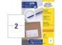 z3655p - etykiety samoprzylepne uniwersalne białe Avery Zweckform 3655 papierowe 210x148 mm, ark. A4 1x2, 100 ark./op.