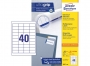 z3657o - etykiety samoprzylepne uniwersalne białe Avery Zweckform 3657 papierowe 48,5x25,4 mm, ark. A4 4x10, 200+20 ark./op.