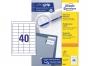 z3657p - etykiety samoprzylepne uniwersalne białe Avery Zweckform 3657 papierowe 48,5x25,4 mm, ark. A4 4x10, 100 ark./op.