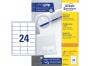 z3658o - etykiety samoprzylepne uniwersalne białe Avery Zweckform 3658 papierowe 64,6x33,8 mm, ark. A4 3x8, 200+20 ark./op.Przy zakupie  3 opakowań etykiet otrzymasz czekoladę Lindt w prezencie