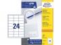 z3658p - etykiety samoprzylepne uniwersalne białe Avery Zweckform 3658 papierowe 64,6x33,8 mm, ark. A4 3x8, 100 ark./op.