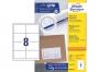 z3660o - etykiety samoprzylepne uniwersalne białe Avery Zweckform 3660 papierowe 97x67,7 mm, ark. A4 2x4, 200+20 ark./op.