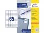 z3666 - etykiety samoprzylepne uniwersalne białe Avery Zweckform 38,0 x 21,2 mm, papierowe, ark. A4, 10 ark./op.