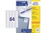 z3667o - etykiety samoprzylepne uniwersalne białe Avery Zweckform 3667 papierowe 48,5x16,9 mm, ark. A4 4x16, 200+20 ark./op.