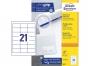 z3670p - etykiety samoprzylepne uniwersalne białe Avery Zweckform 3670 papierowe 64x36 mm, ark. A4 3x7, 100 ark./op.