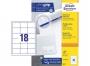 z3671p - etykiety samoprzylepne uniwersalne białe Avery Zweckform 3671 papierowe 64x45 mm, ark. A4 3x6, 100 ark./op.