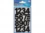 z3785 - naklejki Avery Zweckform Z-Design 3785 3784 Cyfry (25 mm) czarne - wodoodporne, 24x1, 20 ark./10 blistrów