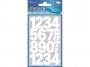 z3787 - naklejki Avery Zweckform Z-Design 3787 Cyfry (25 mm) białe - wodoodporne, 24x1, 20 ark./10 blistrów
