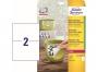 z4717p - etykiety samoprzylepne wodoodporne Avery Zweckform Heavy Duty 210 x 148 mm, ark. A4 2x1, 20 ark./op.,żółte, poliestrowe