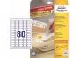 z4732 - etykiety samoprzylepne usuwalne białe Avery Zweckform 4732 Stick&Lift 35,6x16,9 mm, ark. A4 5x16, ILK, 25+5 ark./op.