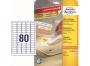 z4732p - etykiety samoprzylepne uniwersalne białe Avery Zweckform 35,6 x 16,9 mm, papierowe, ark. A4 10 ark./op.