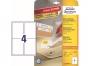 z4733 - etykiety samoprzylepne usuwalne białe Avery Zweckform 4733 Stick&Lift 99,1x139 mm, ark. A4 2x2, ILK, 25+5 ark./op.
