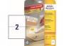 z4734 - etykiety samoprzylepne usuwalne białe Avery Zweckform 4734 Stick&Lift 199,6x143,5 mm, ark. A4 1x2, ILK, 25+5 ark./op.