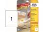 z4735 - etykiety samoprzylepne usuwalne białe Avery Zweckform 4735 Stick&Lift 210x297 mm, ark. A4 1x1, ILK, 25+5 ark./op.
