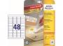 z4736 - etykiety samoprzylepne usuwalne białe Avery Zweckform 4736 Stick&Lift 45,7x21,2 mm, ark. A4 4x12, ILK, 25+5 ark./op.