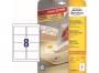 z4745 - etykiety samoprzylepne usuwalne białe Avery Zweckform 4745 Stick&Lift 96x63,5 mm, ark. A4 2x4, ILK, 25+5 ark./op.
