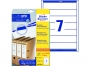z476025o - etykiety samoprzylepne na segregatory Avery Zweckform 38x192 mm, recyklingowe, ark. A4, 30 ark./op.