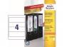 z4761o - etykiety samoprzylepne na segregatory Avery Zweckform 61 x 192 mm, ark. A4, 10 ark./op.