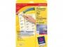 z4770 - etykiety adresowe samoprzylepne przezroczyste Laser Ksero Avery Zweckform 4770 45,7x25,4 mm, ark. A4 4x10, 25 ark./op.