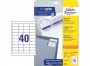 z4780 - etykiety samoprzylepne uniwersalne białe Avery Zweckform 4780 papierowe 48,5x25,4 mm, ark. A4 4x10, 25+5 ark./op.