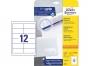 z4781 - etykiety samoprzylepne uniwersalne białe Avery Zweckform 4781 papierowe 97x42,3 mm, ark. A4 2x6, 25+5 ark./op.