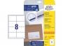 z4782 - etykiety samoprzylepne uniwersalne białe Avery Zweckform 4782 papierowe 97x67,7 mm, ark. A4 2x4, 25+5 ark./op.