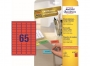z479__ - etykiety samoprzylepne usuwalne mini Avery Zweckform Stick&Lift 38,1x21,2 mm, ark. A4 5x13, ILK, 20 ark./op.Towar dostępny do wyczerpania zapasów!!