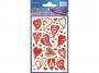 z57520 - naklejki Avery Zweckform Z-Design 57520 foliowe - czerwone serca, 50x1, 10 ark./10 blistrów