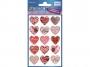 z57521 - naklejki Avery Zweckform Z-Design 57521 foliowe- czerwone serca, 15x1, 10 ark./10 blistrów
