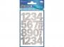 z59126 - naklejki Avery Zweckform Z-Design 59126 Cyfry (25 mm) srebrne- wodoodporne, 24x1, 20 ark./10 blistrów