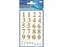 z59128 - naklejki Avery Zweckform Z-Design 59128 Cyfry (16mm) złote - wodoodporne, 28x1, 20 ark./10 blistrów
