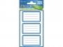 z59286 - naklejki Avery Zweckform Z-Design 59286 na zeszyty - niebieskie ramki, 3x1, 30 ark./10 blistrów