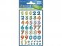 z59335 - naklejki Avery Zweckform Z-Design 59335 kolorowe cyferki, 28x1, 30 ark./10 blistrów
