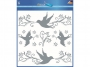 z59387 - naklejki na szyby Avery Zweckform Z-Design 59387 srebrne ptaki, 13x1, 1 ark./1 blister
